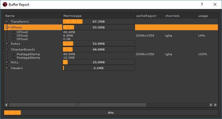 buffer report screenshot