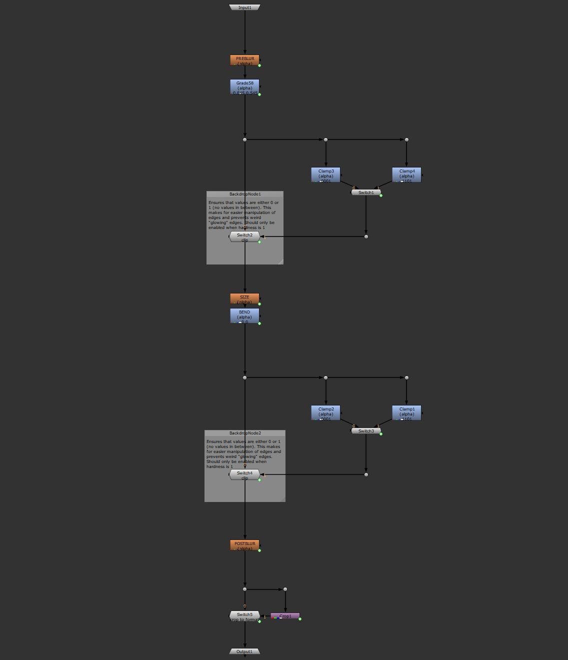 alphaBender v1.0 nodegraph