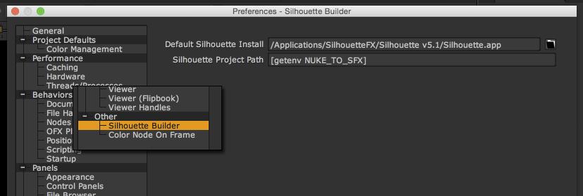 sfx proj build prefs