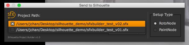 sfx proj build select